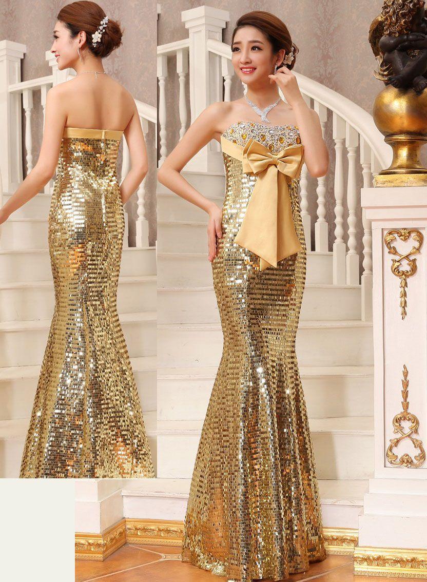 Fantastisch Gold Und Silber Prom Kleid Zeitgenössisch - Hochzeit ...