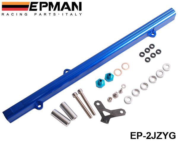 top popular EPMAN For Toyota 2JZ Aluminium Billet Top Feed Injector Fuel Rail Turbo Kit Blue High Quality EP-2JZYG 2021