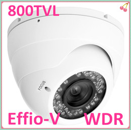 Wholesale Dual Ccd Cctv Camera - Free DHL Security CCTV True WDR 800TVL Effio-V Sony SuperHAD Dual Scan CCD infrared 36 IR LED vandalproof Camera 2.8-12mm varifocal lens