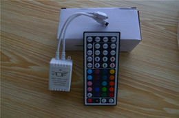 Wholesale 24key Controller - Led Strips RGB Controllers LED 24key Remote Control 44 Key IR Remote Control Receiver Controller 12V For RGB LED Strip Light