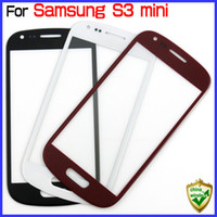 Wholesale S3 Mini Front Cover - For Galaxy S3 mini i8190 Front Glass Lens Screen Touch Screen Cover Black White 104030155