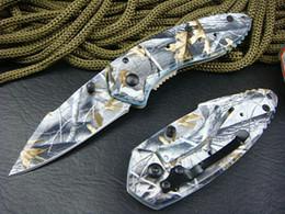 Couteaux de camping cool en Ligne-En plein air couteau 57HRC 440 lame Aviation en aluminium poignée pliant couteau de randonnée cool Survival camping utilitaire Outils couteaux cadeau de Noël