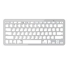 Wholesale Iphone White Wireless Keyboard - S5Q Bluetooth Wireless White Keyboard for PC Macbook Mac ipad 2 iPhone 4 4S AAABAF