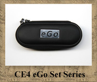 Wholesale Ego Kit Cigar - EGO CE4 KIT electronic cigarette starter kits CE4 Atomizer Clearomizer 650mah 900mah 1100mah e cigar colourful ego-t battery Zipper case