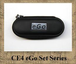 Wholesale E Cigar Starter Kit - EGO CE4 KIT electronic cigarette starter kits CE4 Atomizer Clearomizer 650mah 900mah 1100mah e cigar colourful ego-t battery Zipper case