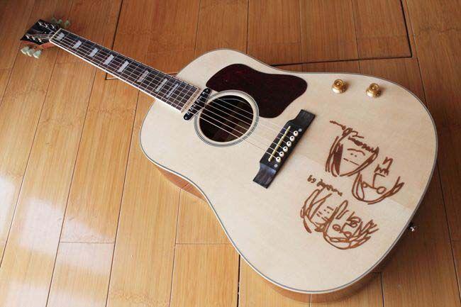 new brand acoustic guitar john lennon j 160e electric acoustic guitar best acoustic electric. Black Bedroom Furniture Sets. Home Design Ideas