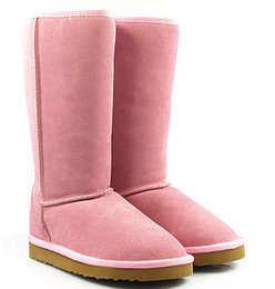 Wholesale Womens Warm High Heel Boot - DORP shipping - Hot WGG5815 Classica style high shaft Womens snow boots Winter Fashion style Warm stable With ertificate dust bag