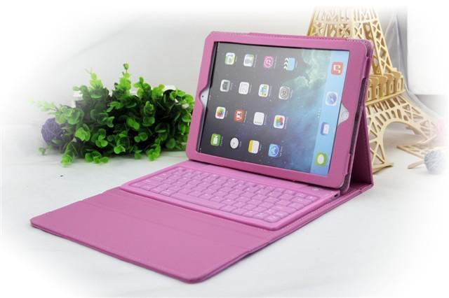 Bluetooth Wireless Keyboard PU Leather Case for new iPad Air 2 3 4 5 Silicone Keys QWERTY Folio Keyboards Stand