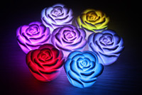 Wholesale Changeable Candles Led - Changeable Color LED Rose Flower Candle lights roses love lamp