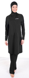 Wholesale Swimwear For Muslims - wholesale plus size Long sleeve Muslim swimwear and Islamic swimsuit for women with for free shipping