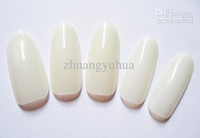 Wholesale Round Oval Nails - Wholesale - 500 Oval natural Nails Tips Round Fullwell Color Tips False Nail Art Tips Dropshipping