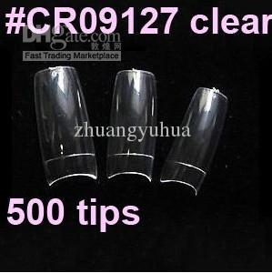 500 Clear Color Nails tips French Color Tips False Nail Art Tips s #A0009X
