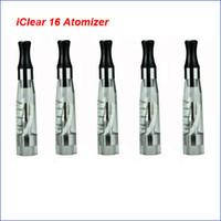 serie de atomizador de doble bobina al por mayor-Innokin Iclear 16 Dual Coil cabeza Clearomizer Atomizador original 100% apto Itaste vv cigarrillo electrónico todo eGo eGo T eGo C series batería