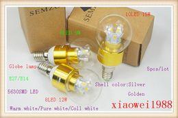$enCountryForm.capitalKeyWord NZ - 5pcs High Power 6LED 8LED 10LED 5630SMD 9W 12W 15W E14 LED Globe lamp bulb light 540LM 85-265V glass cover LED lighting