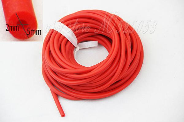 Lunghezza 10 Metri Rosso Giallo Nero Gomma Tubo di Lattice Diametro 5mm ELASTICA Bungee Slingshot Catapulta Caccia Esterna di Ricambio 2050