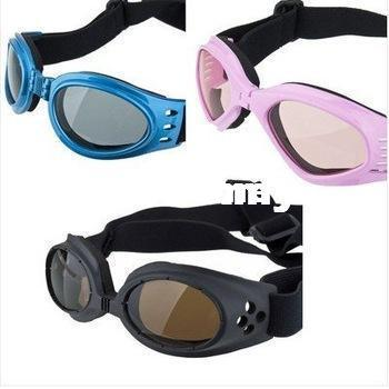 Wholesale - Free Shipping mix Colours Eye Wear Protection Pet Doggles Goggles Dog UV Sunglasses