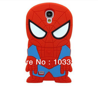 Wholesale S3 Superman - 3D Superman Spiderman case for Galaxy S3 I9300 S4 I9500 Super Spiderman Soft Silicone Rubber Cute skin cases 20pcs lot freeship