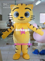 Wholesale Mascot Costume Animal Cat - Cartoon Clothing,yellow cat mascot costumes for sale anime carnival costume Halloween Dress kids party,good quality