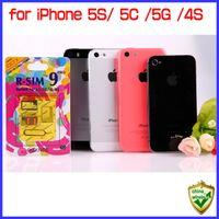 iphone 5s t mobile toptan satış-IPhone 5 S 5C 5G 4 S Hakiki R-SIM 9 PRO Kilidini IOS7 IOS5 Desteklenen GSM + WCDMA + CDMA Sprint T-mobil Bakire Docomo