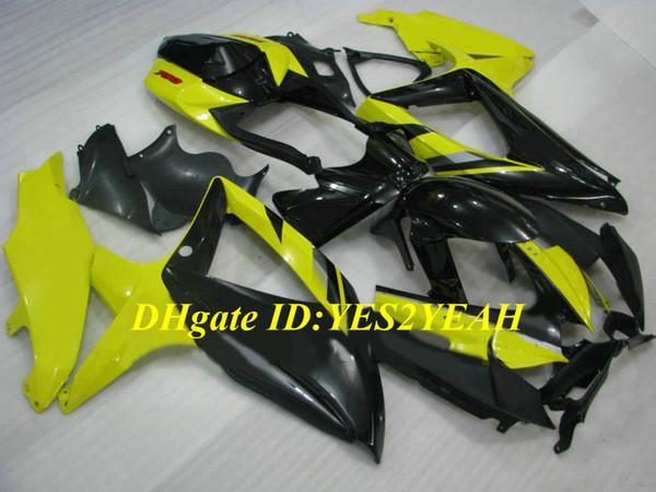 Injection Fairing body kit for SUZUKI GSXR600 750 K8 08 09 GSXR 600 Bodywork GSXR750 2008 2009 Yellow black Fairings set+Gifts SE01
