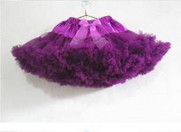 Wholesale Black Girls Pettiskirts - Babies Dance Skirt Girls Ball Gown Tutu Dress Gauze Layer Princess Baby Tutu Skirt Chiffon Fluffy Pettiskirts In Stock QZ255