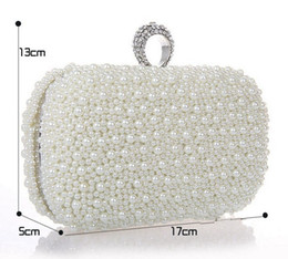 Wholesale Beaded Diamond Ring - 2014 Luxury Crystal Diamond Ring Evening Clutch Bag Purses Women's Wedding Party Prom Bridal HandBags Free Shipping