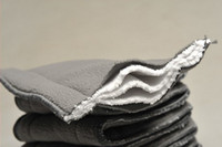 Wholesale Charcoal Inserts Cloth Diapers - Charcoal Bamboo Inserts 100 pcs 5 layers(3+2) Washable Reuseable Charcoal bamboo Inserts Baby Cloth Diaper Nappy Inserts