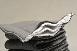 Wholesale Bamboo Diaper Nappies - Charcoal Bamboo Inserts 100 pcs 5 layers(3+2) Washable Reuseable Charcoal bamboo Inserts Baby Cloth Diaper Nappy Inserts