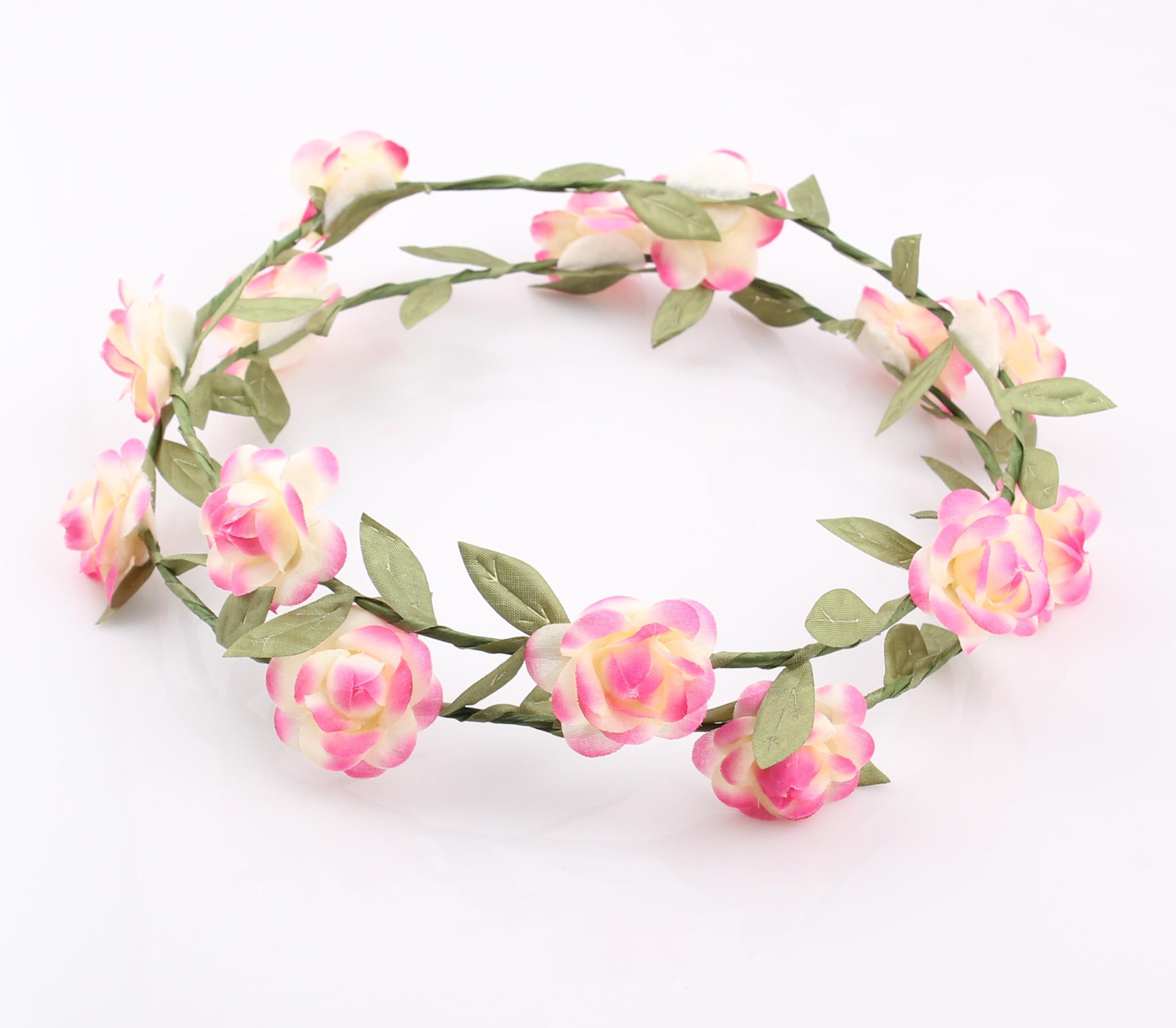 Best Fashion Hawaiian Flower Garland Wedding Bridal Head Crown