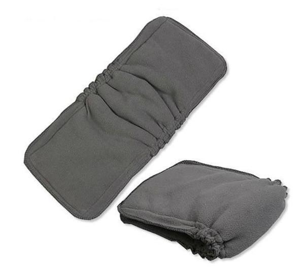 Charcoal Bamboo Inserts With Double Gussets 100 pcs 5 layers(3+2) Washable Reuseable Charcoal bamboo Inserts Baby Cloth Diaper Nappy Inserts