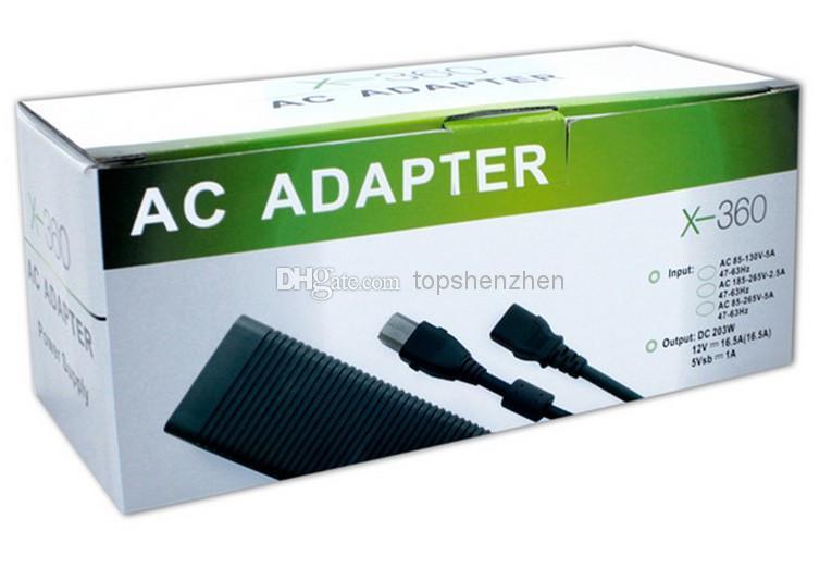 Adattatore di gioco Xbox 360 Adattatore grasso / xbox 360 caricatore di grasso / alimentazione CA Prezzo di fabbrica