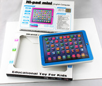Wholesale Kids Touch Screen Pads - Hi Pad Mini Touch Screen English Learning Machine Numbers and Table Farm Hi-pad HIpad Smaller than Y PAD for Kids Led Music 10pcs DHL EMS