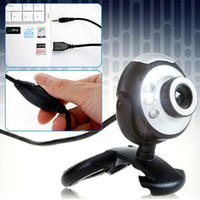 S5Q 12MP Mic Webcam USB 6 LED Webcam Cam Câmera Web Para PC Laptop Online MSN Skype AAAACP
