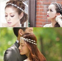 Discount tiara bridal - FLORAL CRYSTAL FLOWER LEAVES BRIDAL HEADBAND HAIRBAND BOHEMIA HAIR PIECE BAND CUFF ACCESSORY TIARA Headwear Wedding Hair