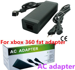 Wholesale Game AC adapter for xbox 360 fat adapter  for xbox 360 fat charger AC power supply Factory Price