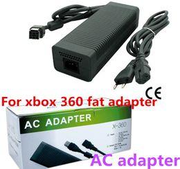 Venta al por mayor de Juego Adaptador de CA para xbox 360 adaptador de grasa / para xbox 360 cargador de grasa / fuente de alimentación de CA Precio de fábrica