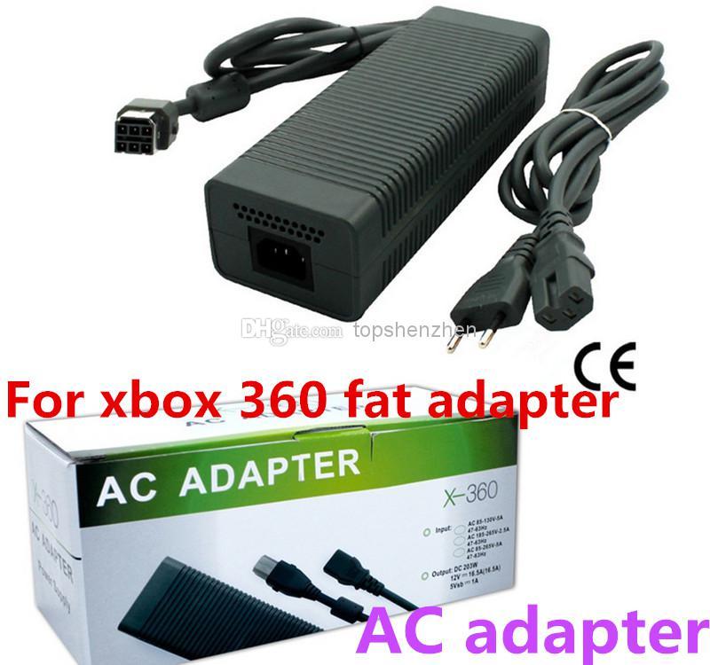 Adattatore di gioco per Xbox 360 Adattatore grasso / per xbox 360 caricatore di grasso / alimentazione CA Prezzo di fabbrica