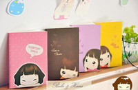 Wholesale Smiley Diary - Children's stationery ,New cute smiley girl Notebook Linear Letters diary  Notepad Memo   Wholesale, dandys