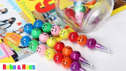 Wholesale Korean Cute Stationery Wholesale - Children's stationery ,New cute Candied haws on a stick 7 colors Crayons   Korean Style   Promotion Gift  Wholesale, dandys