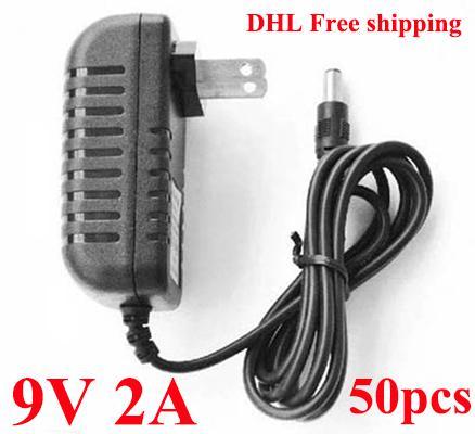 /AC/DC Wall Adapter DC 9V 2A Power Supply adapter 9V adaptor US Plug DHL
