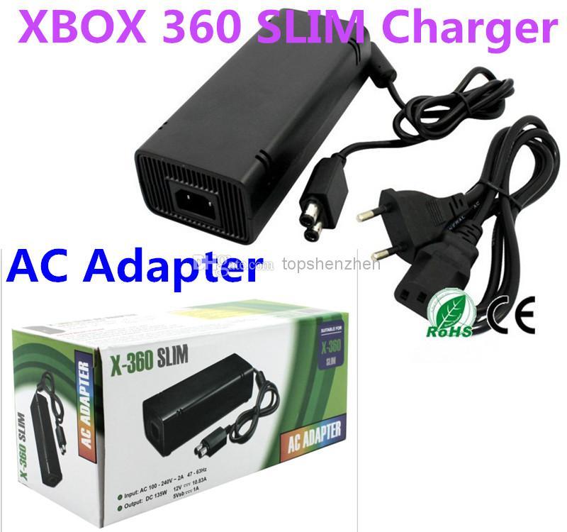 Caricatore per cavo di alimentazione per adattatore AC Caricatore per XBOX 360 Slim per gioco xbox 360