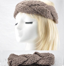 Discount crochet bows wholesale - FASHION GIRLS WOMEN Headband Beanie Ear Warmer Handmade Knitted Crochet head wrap turban bow hairband Boutique cap hat 1