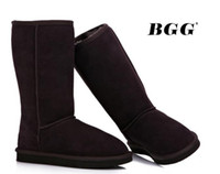 Wholesale Womens Tall Leather Snow Boots - Free shipping 2014 High Quality BGG Women's Classic tall Boots Womens boots Boot Snow Winter boots leather boot 1pairs