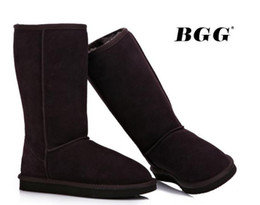 Wholesale Womens High Snow Boots - Free shipping 2014 High Quality BGG Women's Classic tall Boots Womens boots Boot Snow Winter boots leather boot 1pairs