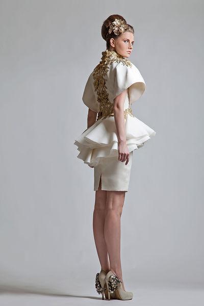 Gold Appliqued 2019 Retro Mermaid African Wedding Dresses High Neck Short Sleeves Mini Wedding Bridal Gowns Saudi Arabic Vestidos De Novia