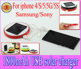 Wholesale Sumsang S3 - 1800mAh Window Solar charger rechargeable Backup battery Power bank for iphone5 iphone 5 4 4S sumsang S3 S4 I9500,free shipping