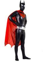 legging de lycra apretado al por mayor-Unitard Lycra Spandex Catsuit Bodysuit Adulto Superhero Batman Disfraz Zentai