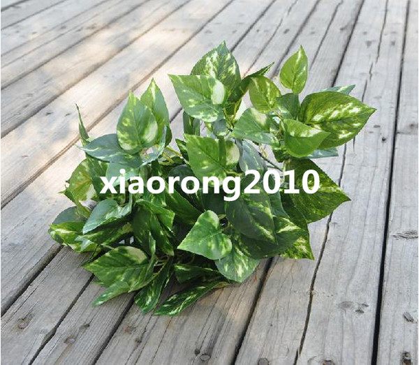"HOT 6Pcs 42cm/16.54"" Length Artificial Green Plant Simulation Evergreen Leaf Bush Silk Flowers Home Decoration"