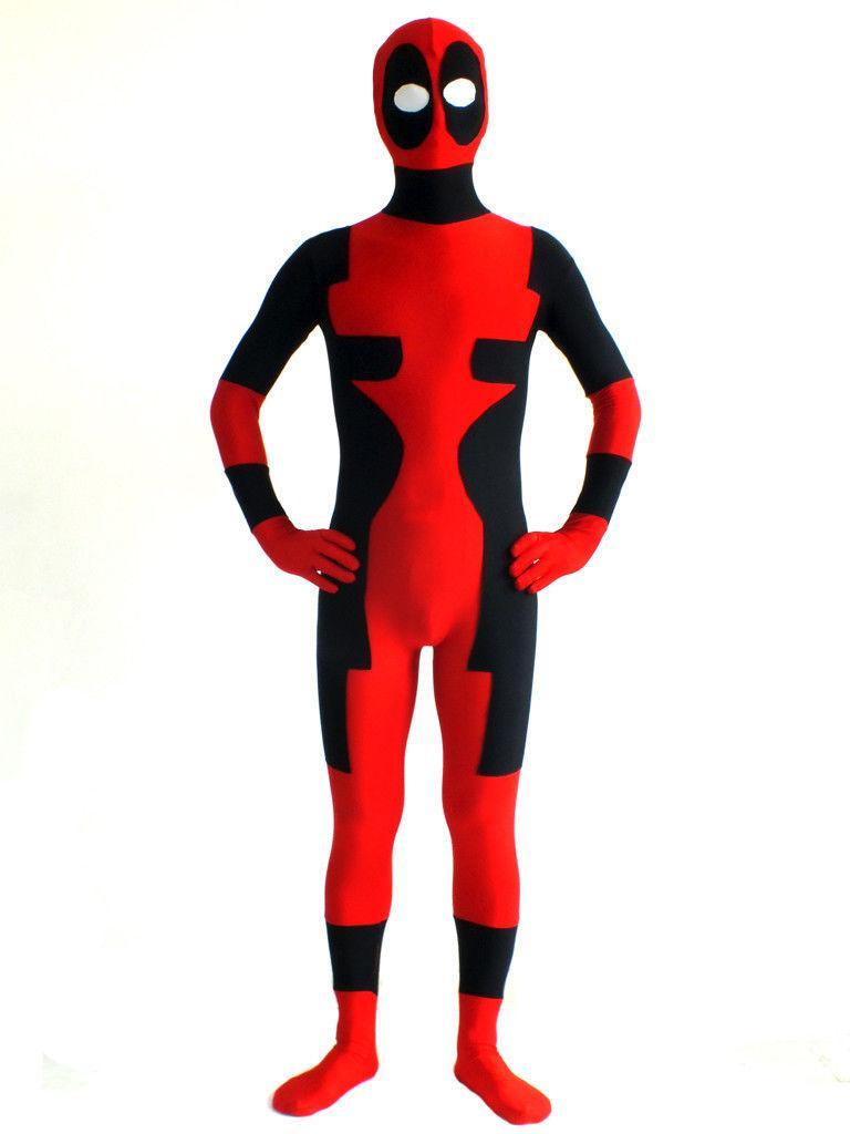 costumeok deadpool zentai costume bodysuit lycra spandex halloween costume idea from cangbaolou168 3181 dhgatecom