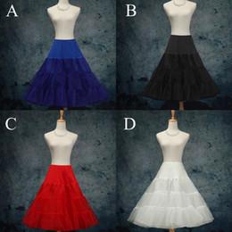 """Wholesale Swing Petticoats - 26"""" 50s Retro Underskirt Swing Vintage Petticoat Fancy Net Skirt Rockabilly Tutu (4 Colores To Choosing) DH6963"""